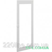 Двері білі з прозорим вікном VZ135N для 5-рядного щита Volta Hager