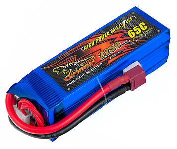 Акумулятор для радіокерованої моделі Dinogy Li-Pol 2250 мАг 14.8 В 106x35x33 мм T-Plug 65C