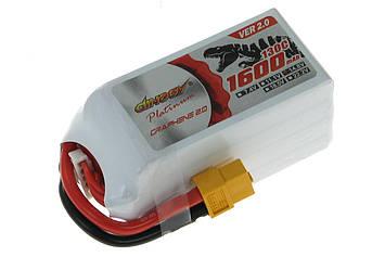 Акумулятор для квадрокоптера Dinogy PLATINUM G2.0 Li-Pol 1600 мАг 14.8 В 75x34x40 мм T-Plug 130C