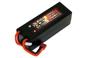 Акумулятор для радіокерованої машинки Giant Power (Dinogy) Li-Pol 7500 мАг 14.8 В Hardcase 139x46x48 мм T-Plug 100C