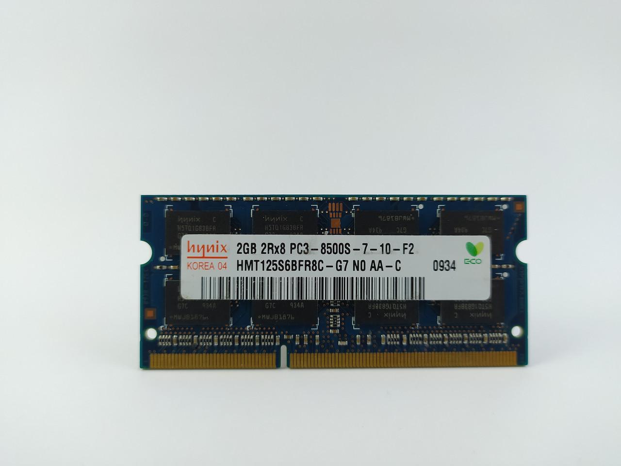 Оперативная память для ноутбука SODIMM Hynix DDR3 2Gb 1066MHz PC3-8500S (HMT125S6BFR8C-G7) Б/У