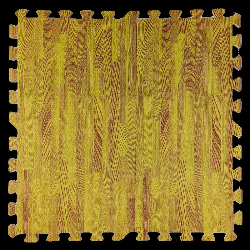 Підлога пазл - модульне підлогове покриття 600x600x10мм жовте дерево