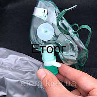 Кислородная маска высокой концентрации + Трубка 1.7 м.
