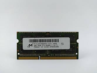 Оперативная память для ноутбука SODIMM Micron DDR3 2Gb 1066MHz PC3-8500S (MT16JSF25664HZ-1G1F1) Б/У