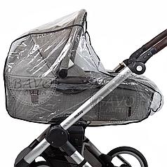 Дождевик на коляску люльку универсальный с окошком на резинке
