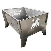"""Мангал раскладной Gorillas Market """"Gorillas BBQ"""" 2мм (нержавейка)"""