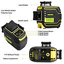 ТОП ПРОДАЖ ᐉ ᐉ Лазерный уровень Firecore F94T-XG➤ приемник луча в комплекте ᐉᐉ ГАРАНТИЯ 1год ➤ противоударный, фото 2