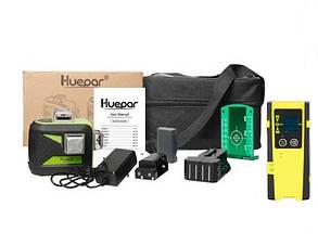Лазерный уровень Huepar 3D HP-603CG + приемник луча 💥