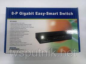 Свитч (коммутатор) Repotec RP-G802W Gigabit (8 портов)