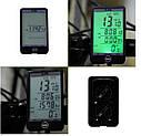 Велокомп'ютер Sunding SD - 576A велосипедний комп'ютер, спідометр, одометр чорний, фото 3