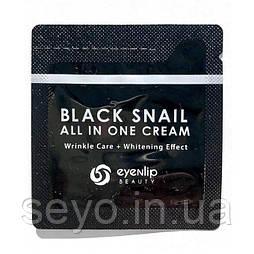 Крем для лица многофункциональный с экстрактом черной улитки Eyenlip Black Snail All In One Cream, 1 мл