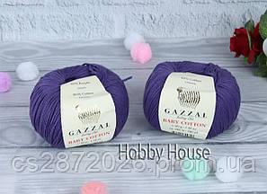"Пряжа Gazzal ""Baby Cotton""(Газзал Беби Коттон)№3440.фиолетовый"