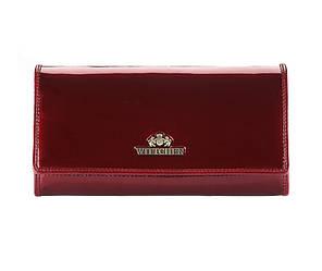 Женский кошелек из лакированной кожи от бренда Wittchen Verona / цвет бордо / размер 10-18.5-3 см