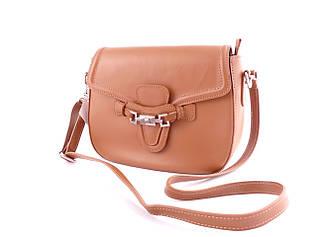 Жіноча шкіряна сумка ТМ Borse in Pelle (Італія) / 20-24-8 см / колір camal