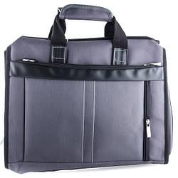 Сумка для ноутбука, материал - текстиль, серого цвета / 32 * 40 * 5 см