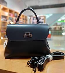 Жіноча сумка з якісної екошкіри , колір чорний , 27-20-12 см