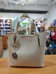 Жіноча сумка з якісної екошкіри , 36-31-13 см , колір молочний
