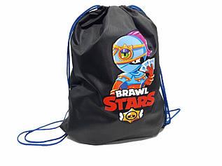 Сумка для змінного взуття дитяча, бравл старс, сумка-сменка BRAWL STARS /  43*33.5 / AM V002-1