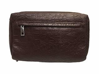 Мужской клатч из натуральной кожи от MIC, 14.5-23-55, цвет темно-коричневый / черный / 4430
