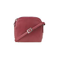 Жіноча шкіряна сумка через плече Visconti Holly (Англія) / розмір 19х17х9 / колір червоний