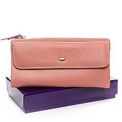 Женский кошелек - клатч из натуральной кожи, розового цвета от DR. BOND / 10 * 19 * 3