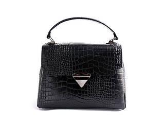 Жіноча шкіряна сумка TM Borse in Pelle (Італія) / розмір 26.5-19-14 см / колір чорний