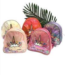 Детский текстильный рюкзак для девочек, с единорогом / 20*20*7 / A-251