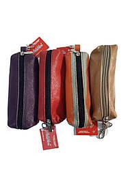 Ключница или чехол для ключей из мягкой, натуральной кожи от ArtMar / AM-V003-6 / 14,5*6*3