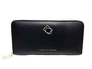 Жіночий гаманець з якісної еко-шкіри від TAILIAN в чорному кольорі / AM-T9612-026-1