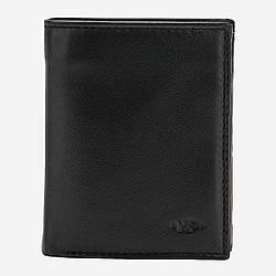 Небольшое мужское портмоне с монетницей Nappa Dudubags / размер 8,4x10,7x2,5 см / цвет черный