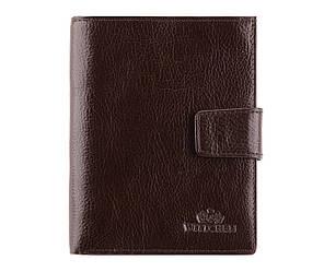 Мужской кожаный кошелек от бренда Wittchen Italy / размер 14-11-2 см / цвет коричневый