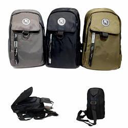 Монорюкзак, чоловіча сумка, бананка через плечі, текстиль GORANGD / 8014