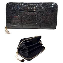 Жіночий гаманець з якісної еко-шкіри,ТМ Romina в чорному кольорі / A239-1 / 19*2*10