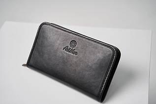 Мужской клатч из натуральной кожи ТМ ArtMar / 13-23-2.5 см / цвет черный