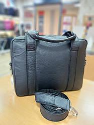 """Жіноча шкіряна сумка для документів від ТМ """"ArtMar"""" / розмір 32x25x7,5см / колір чорний"""