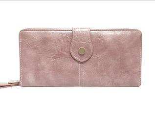 Кошелек женский с дополнительный визитной карточкой, розовый / YA MEI / 9*19*3 / AM8372-4