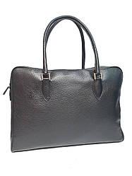 Жіноча шкіряна сумка від бренду DUDUBAGS (Італія) / розмір 39х28х10см / колір чорний