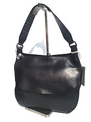 Жіноча шкіряна сумка-бродяга від бренду DUDUBAGS Guitar Sallie / розмір 27х29х12см / колір чорний