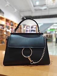 Жіноча сумка з якісної екошкіри , колір чорний , 27-20-9 см