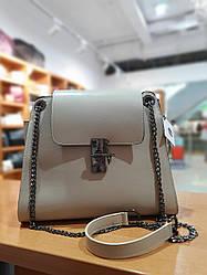 Жіноча сумка з якісної екошкіри , колір бежевий , 28-23.5-13 см