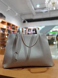 Жіноча сумка з якісної екошкіри , 35-24-16 см , колір молочний