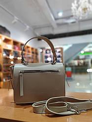 Жіноча сумка з якісної екошкіри , колір бежевий , 18-25-10 см