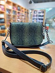 Жіноча маленька сумочка з якісної екошкіри , колір чорний , 22.5-17-9 см