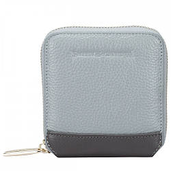 Женский кожаный кошелек Smith & Canova (Англия) / размер 11х10х1 см / цвет серый