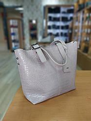 Женская сумка с экокожи лавандового цвета