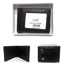 Зажим для купюр / Anil , 11-9-1 см , натуральна шкіра