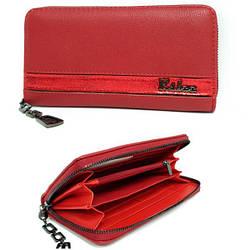 Гаманець жіночий із якісної еко-шкіри від ESLEE / кошелек женский, красного цвета