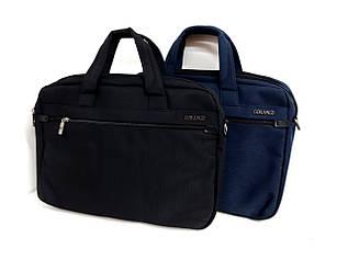Сумка - чохол для ноутбука GORANGD /синя /чорна / текстиль / 40*31*7см