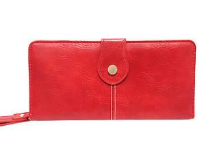 Кошелек женский с дополнительный визитной карточкой, красный / YA MEI / 9*19*3 / AM8372-2