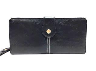 Кошелек женский с дополнительный визитной карточкой, черный / YA MEI / 9*19*3 / AM8372-1
